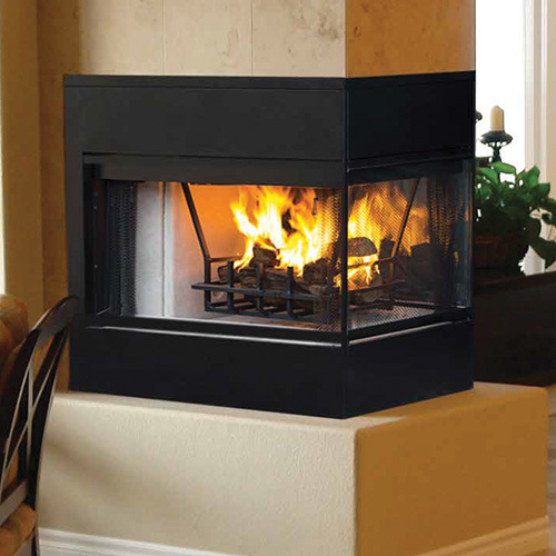 3 Sided Gas Fireplace Installation
