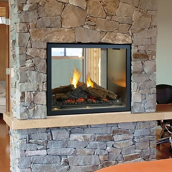 Double Sided Gas Fireplace Installation