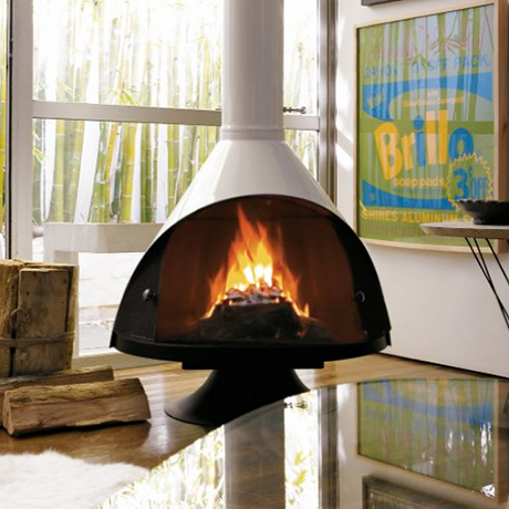Free Standing Fireplace Installation